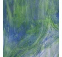 AZUL/VERDE OPALESCENTE WISSMACH 23,5X27,5 CM