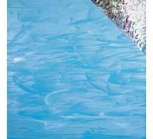 AZUL CIELO/BLANCO IRIDISCENTE 20X30 CM