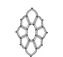FLOR DE LIS PREFORMADA JS11 (8 PIEZAS 273 X 464 MM)