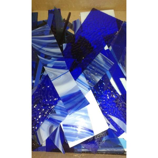 Recortes Vidrio Gama Azul Pmosaico X 800 Grs Veahcolor