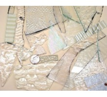 Recortes Vidrio Transparente C Textura Pmosaico X 800 Grs