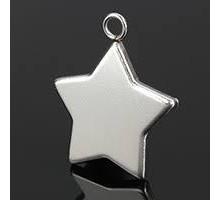Base Estrella Para Colgante (10 Unid)