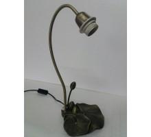 Base Lampara Cuello De Ganso Con Pimpollos 37 Cm