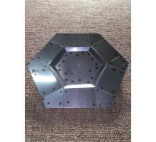 Molde De Acero Hexagono De 21.5 X 1 Cm