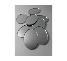 Espejos Ovalos Nro. 1 De 28x40 Mm X 25 Unid