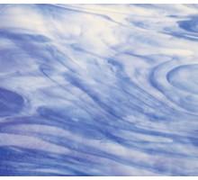 Azul Cobalto C/blanco Nube Iridiscente Wissmach 23,5x27,5 Cm