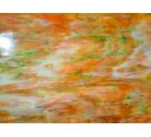 Naranja Veteado Con Blanco Y Verde Oferta 25 X 30 Cm