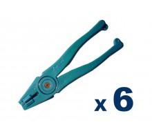 Pinza De Abrir Vidrio Leponitt Blue Runner (plastico) X 6 Unidades