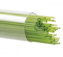 Bullseye amarillo y profundo bosque verde entreverado Vidrio 3mm Fundido 5x5cm COE90 Craft