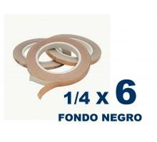 Cinta De Cobre Eco De 1/4 Fonfo Negro (6,35mm) X 6 Unidades