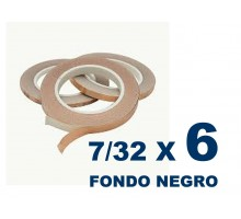 Cinta De Cobre Eco De 7/32 Fondo Negro (5,55mm) X 6 Unidades