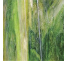 Verde Oscuro C/ambar Translucido Wissmach 23,5x27,5 Cm