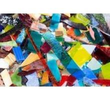 Recortes Vidrio Colores Surtidos P/mosaico X 800 Grs