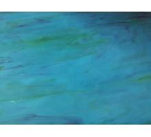 Verde Turquesa Veteado Con Azul Prisma 23 X 23 Cm