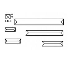 RECTANGULO BISELADO 1`X 3`